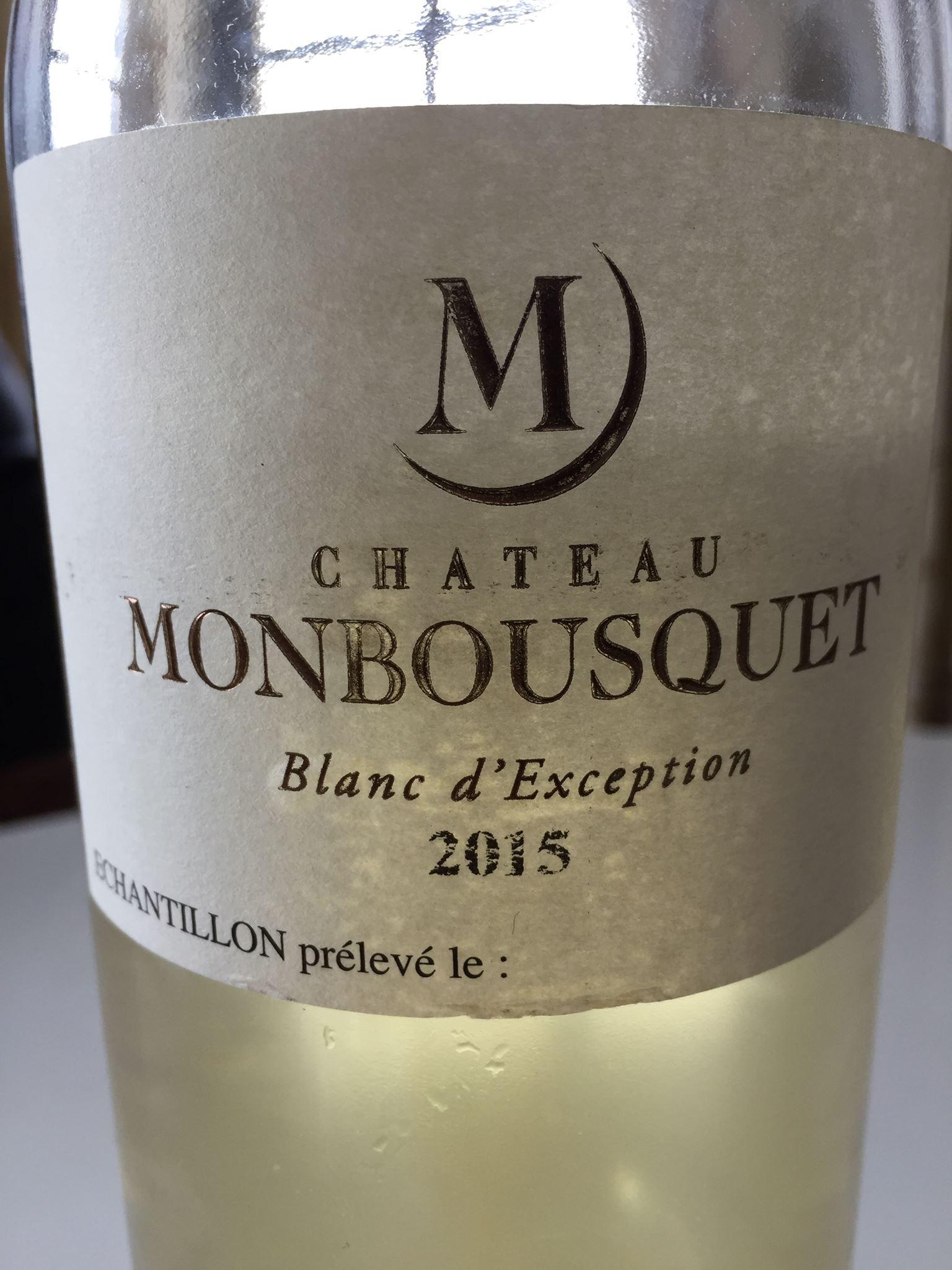 Château Monbousquet – Blanc d'Exception 2015 – Bordeaux