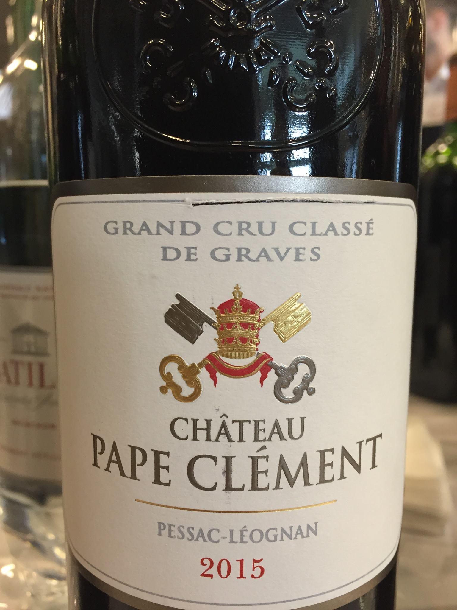 Château Pape Clément 2015 – Pessac-Léognan, Grand Cru Classé de Graves