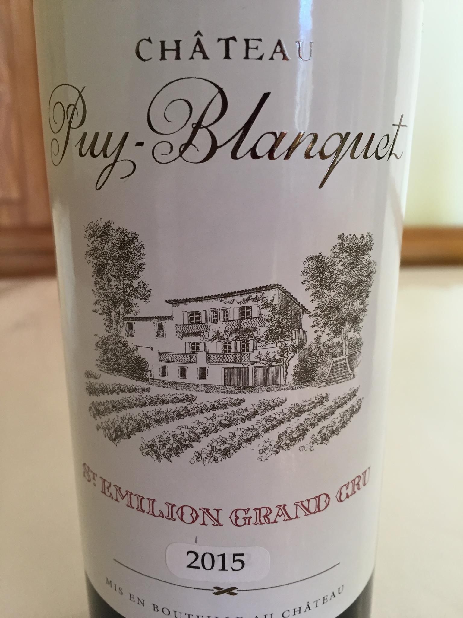 Château Puy-Blanquet 2015 – Saint-Emilion Grand Cru