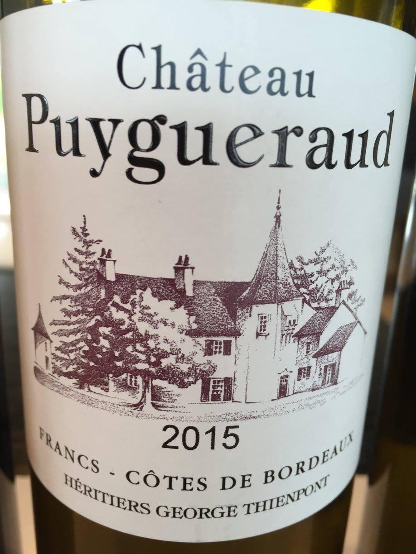 Château Puygueraud 2015 – Francs Côtes-de-Bordeaux