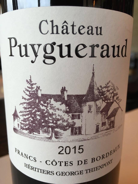 Château Puygueraud 2015 – Francs – Côtes de Bordeaux