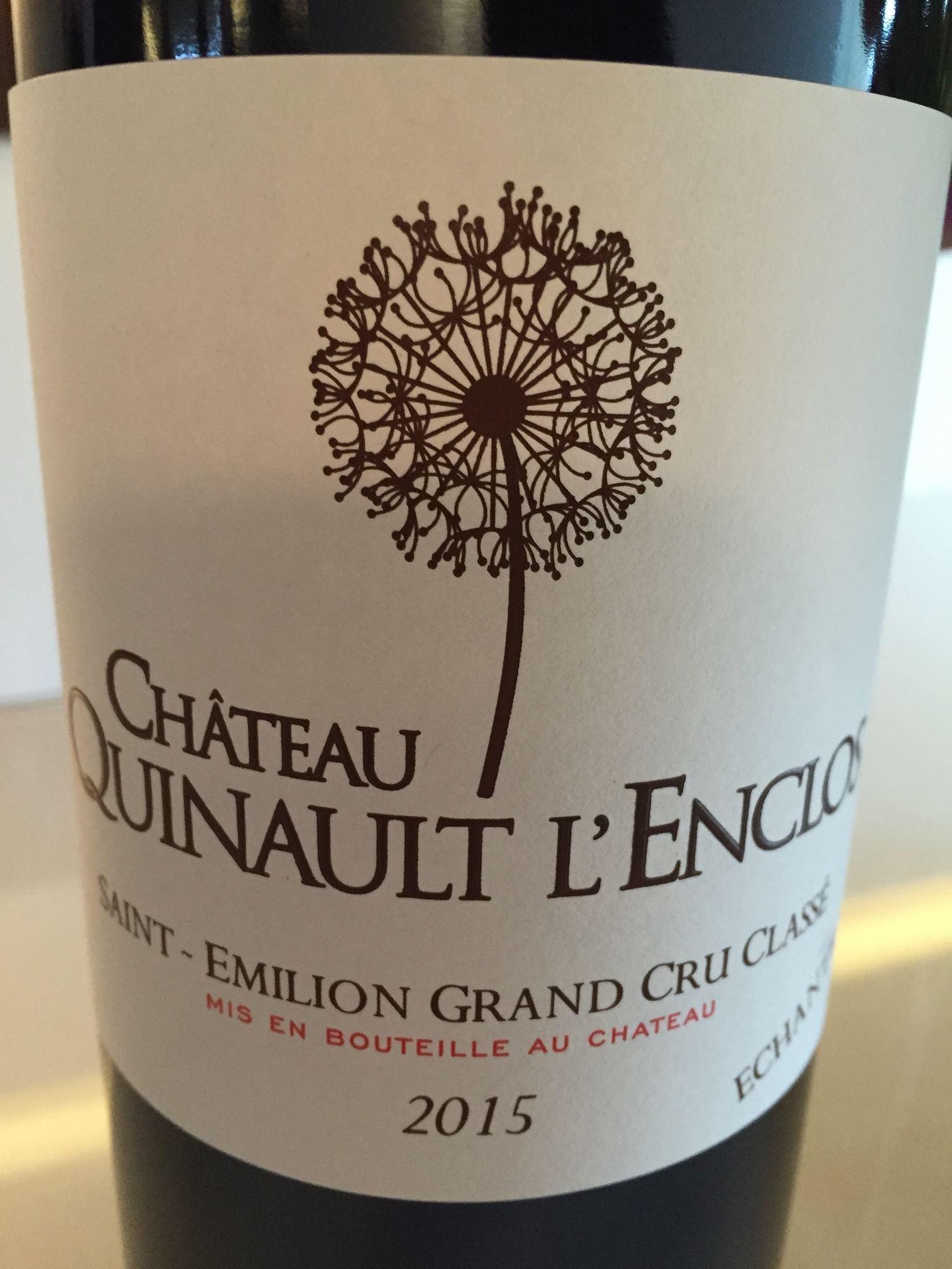 Château Quinault L'Enclos 2015 – Saint-Emilion Grand Cru Classé