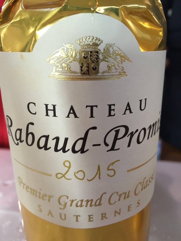 Château Rabaud-Promis 2015 – Sauternes, 1er Cru Classé