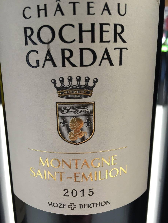 Château Rocher Gardat 2015 – Montagne Saint-Emilion
