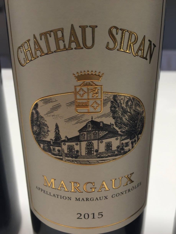 Château Siran 2015 – Margaux