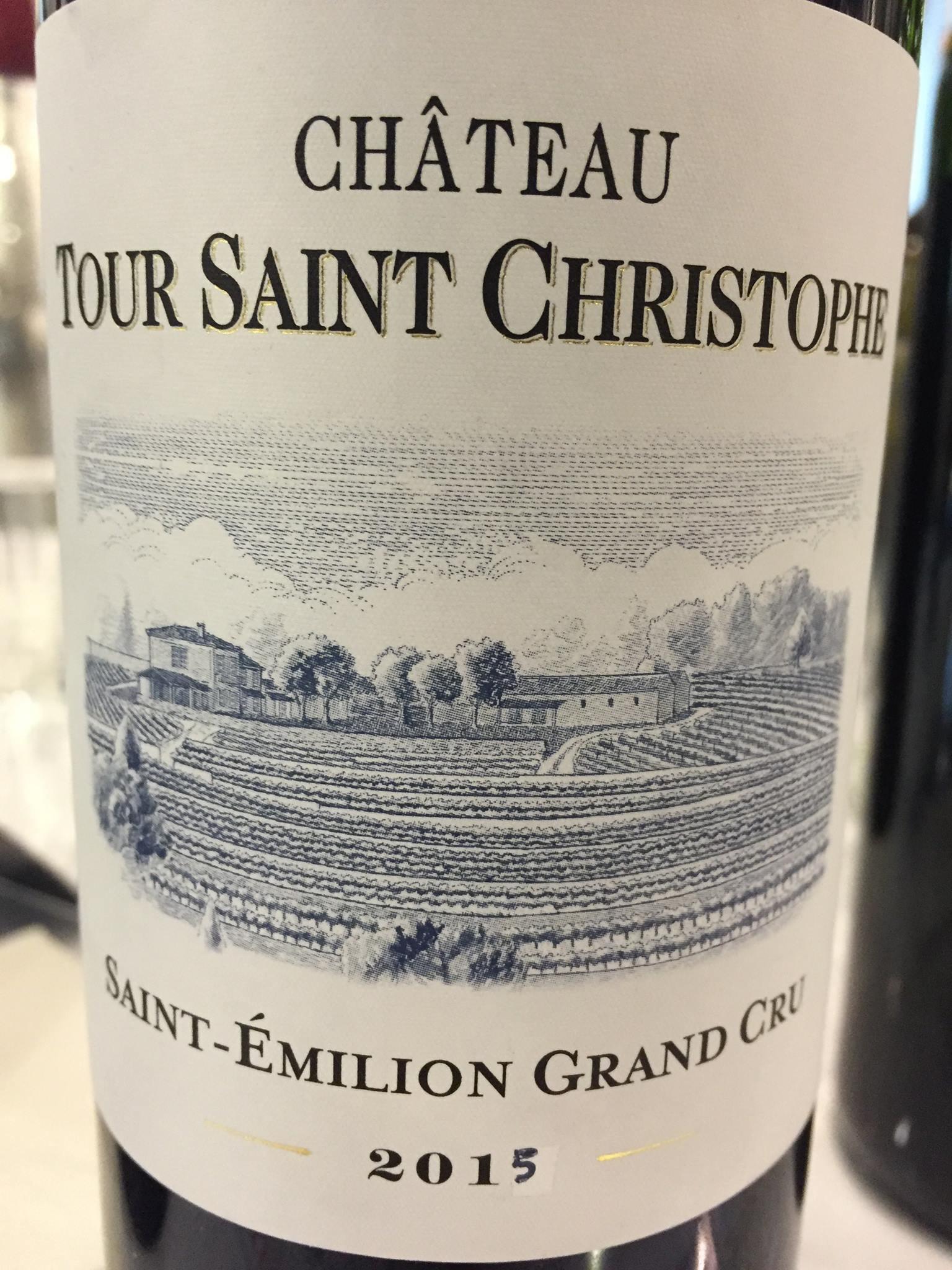 Château Tour Saint Christophe 2015 – Saint-Emilion Grand Cru