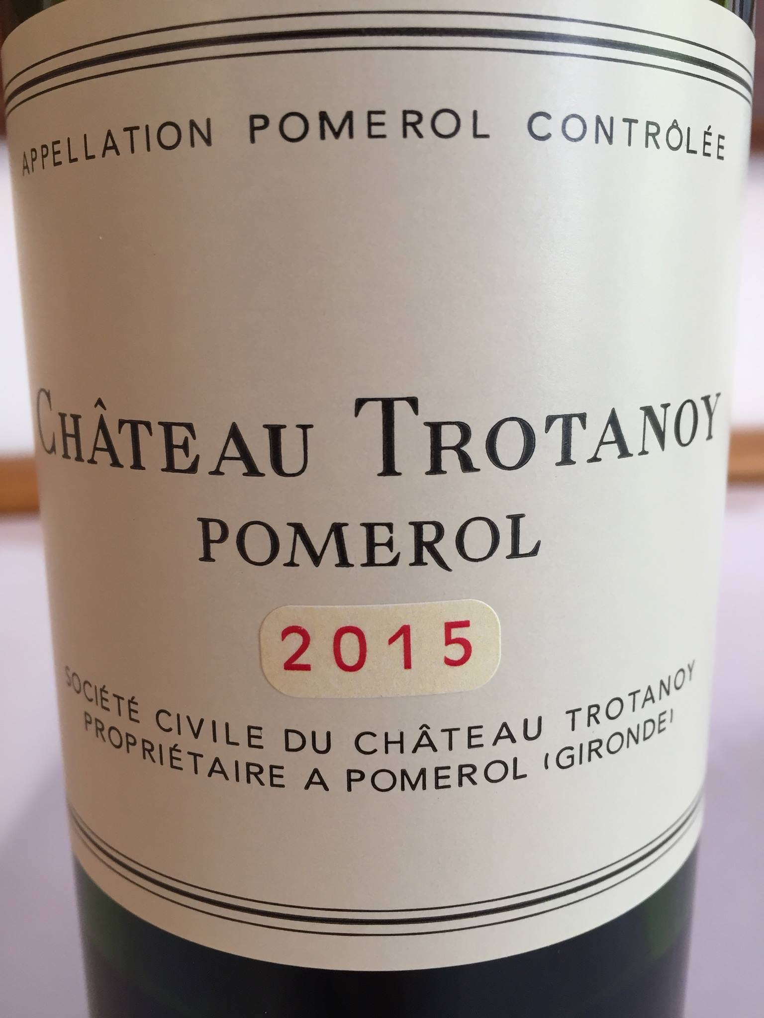 Château Trotanoy 2015 – Pomerol