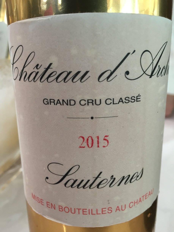 Château d'Arche 2015 – Sauternes, 2nd Cru Classé