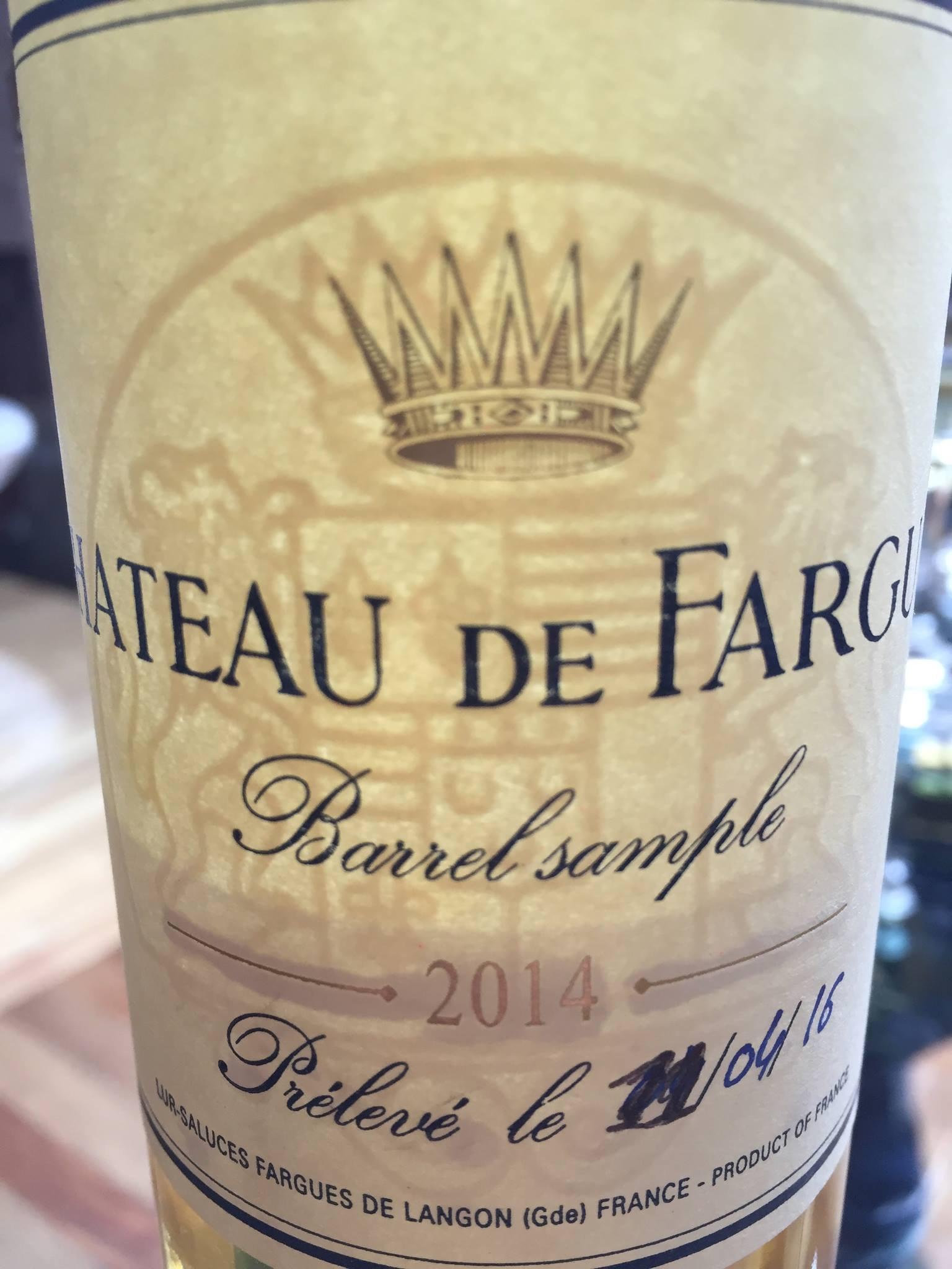 Château de Fargue 2014 – Sauternes