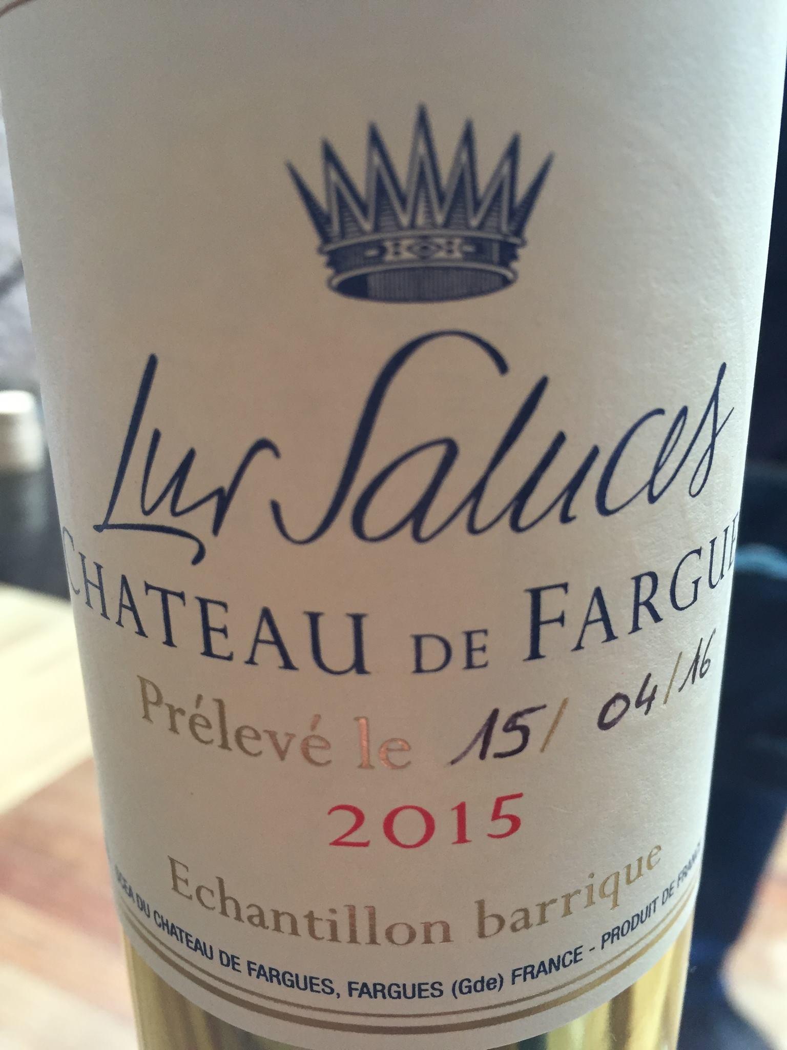 Château de Fargues 2015 – Sauternes