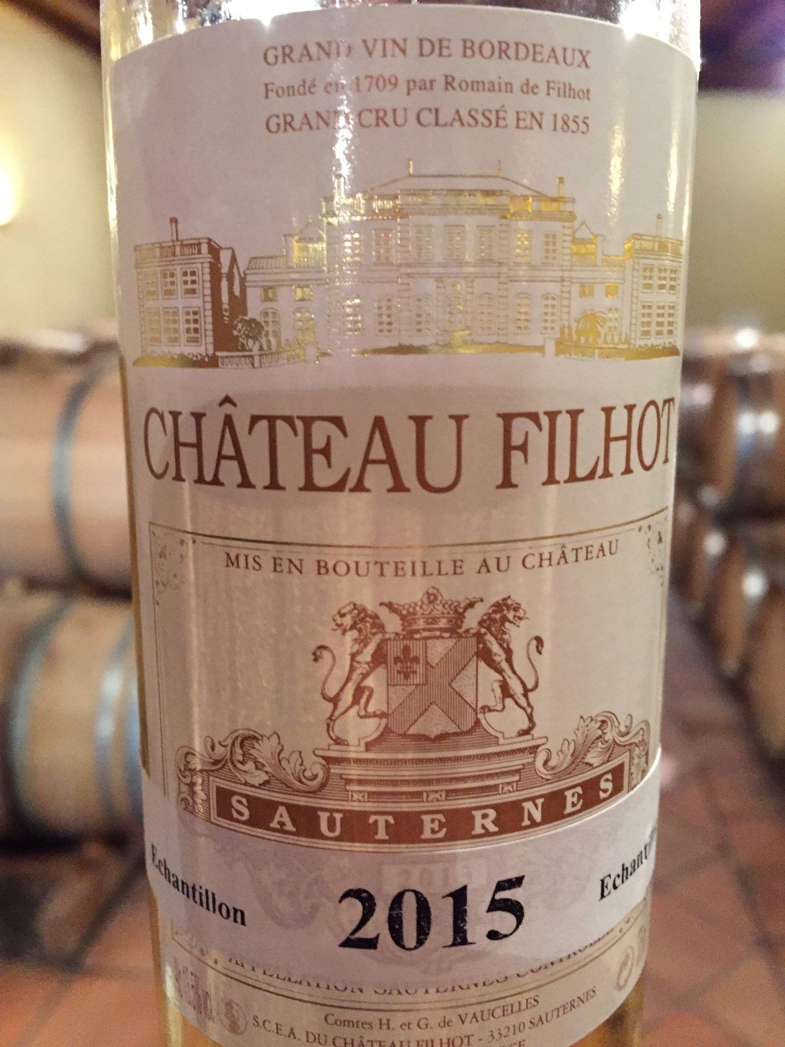 Château de Filhot 2015 – Sauternes, 2nd Grand Cru Classé