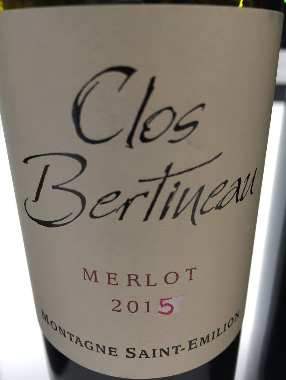 Clos Bertineau – Merlot 2015 – Montagne Saint-Emilion