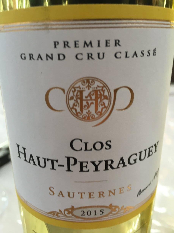 Clos Haut-Peyraguey 2015 – Sauternes, 1er Cru Classé