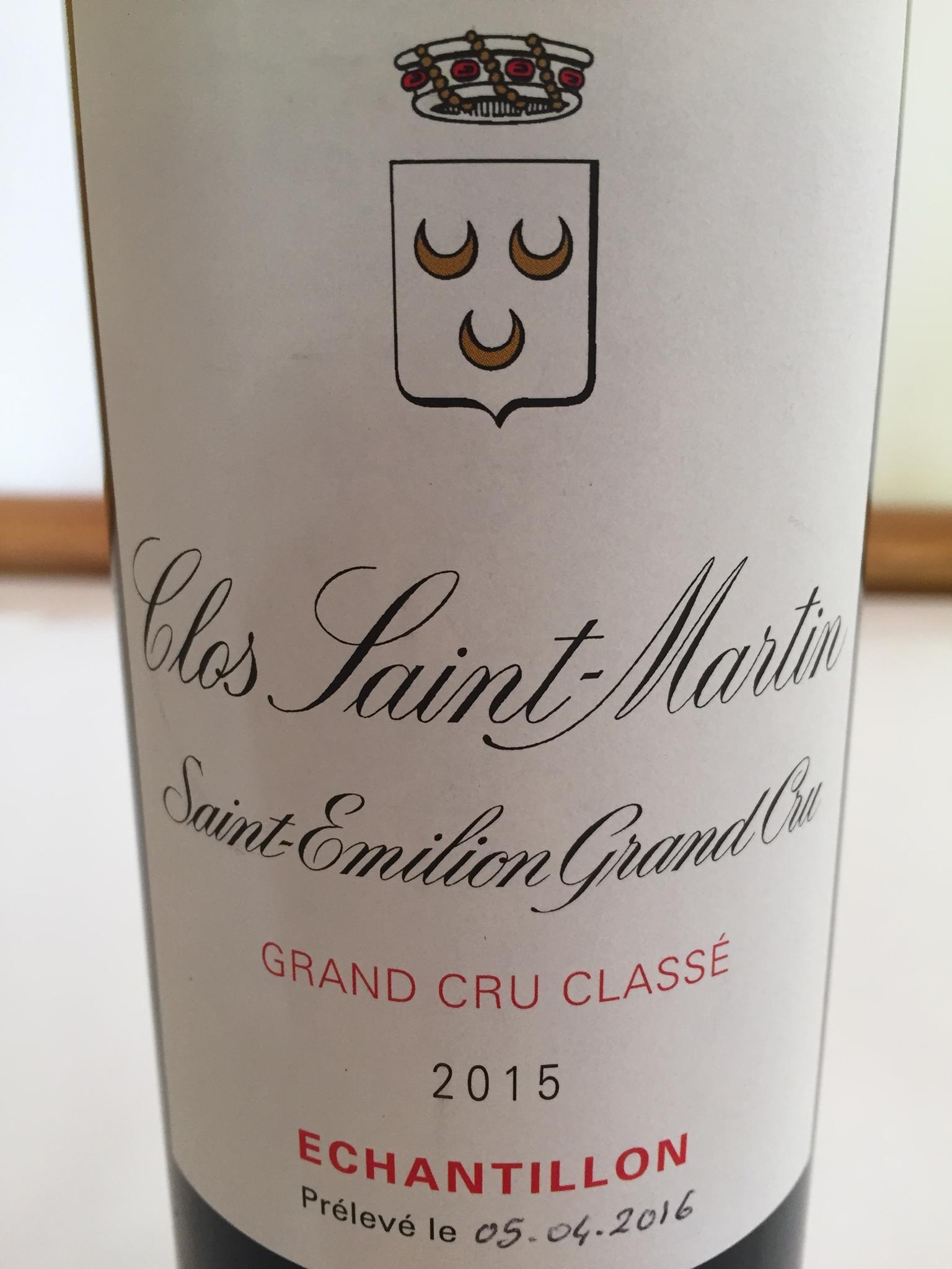 Clos Saint-Martin 2015 – Saint-Emilion Grand Cru Classé