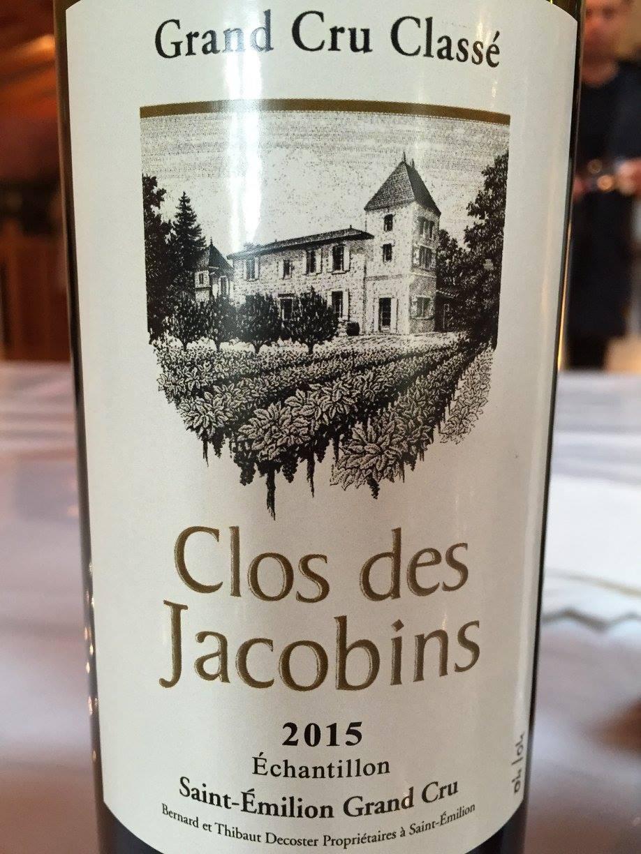 Clos des Jacobins 2015 – Saint-Emilion Grand Cru Classé