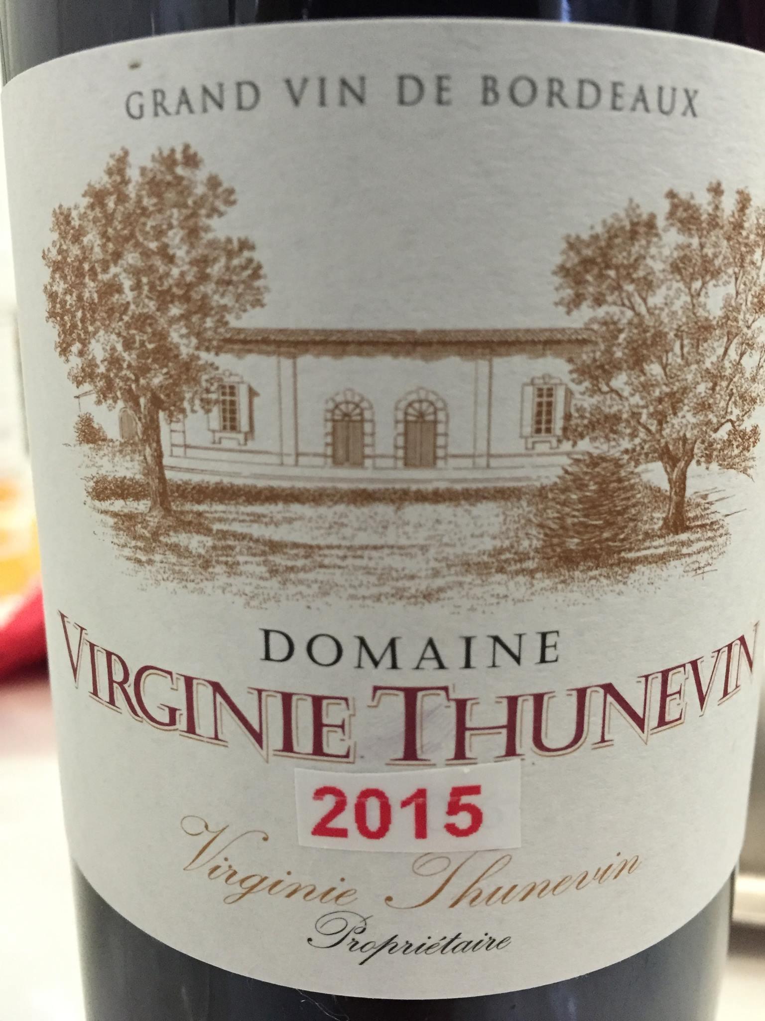 Domaine Virginie Thunevin 2015 – Bordeaux