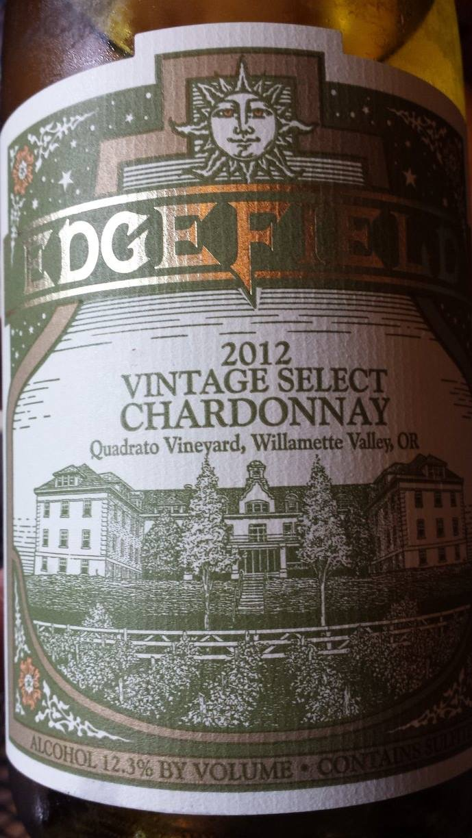 Edge Field – Vintage Select Chardonnay 2012 – Quadrato Vineyard – Willamette Valley