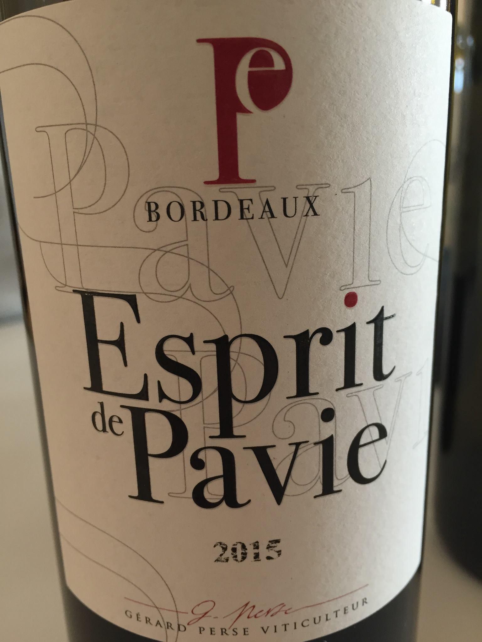 Esprit de Pavie 2015 – Bordeaux