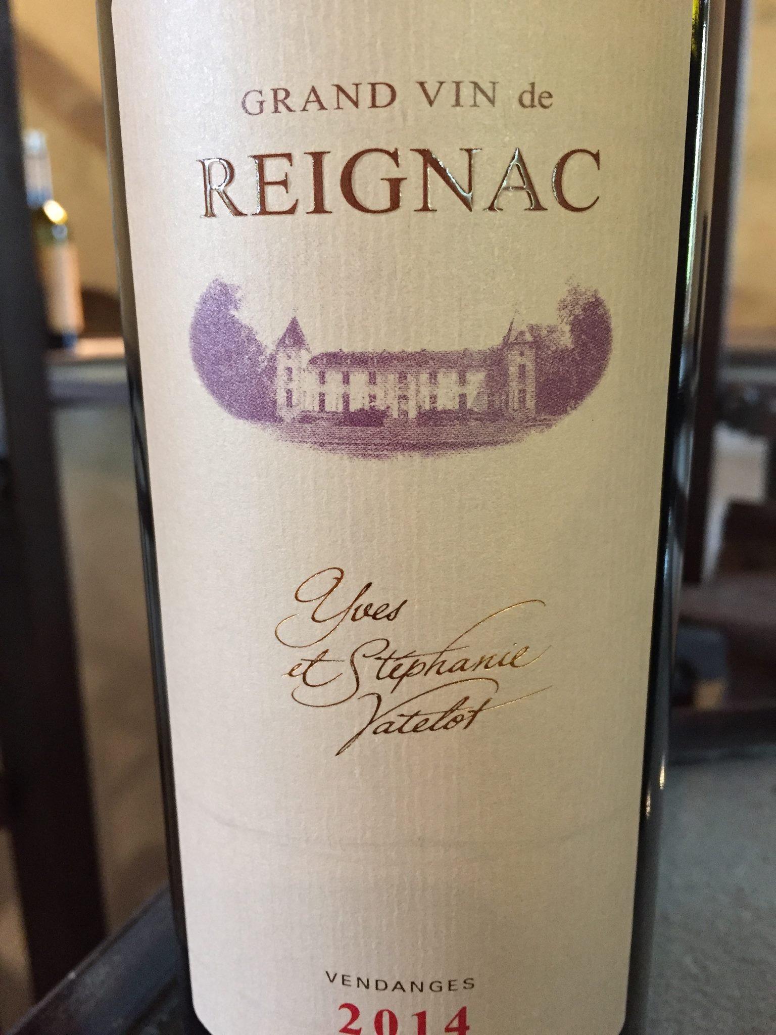 Grand Vin de Reignac 2015 – Bordeaux Supérieur