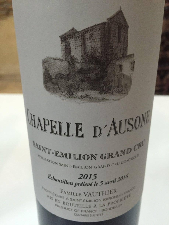 La Chapelle d'Ausone 2015 – Saint-Emilion Grand Cru
