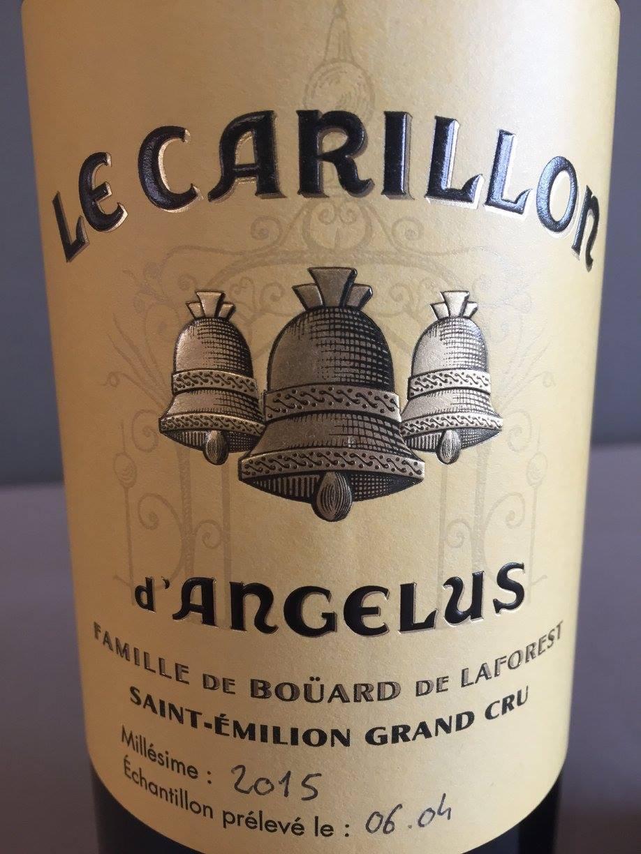 Le Carillon d'Angélus 2015 – Saint-Emilion Grand Cru