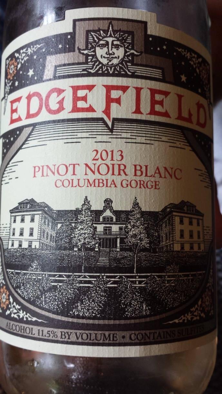 Edge Field – Pinot Noir Blanc 2013 – Columbia Gorge