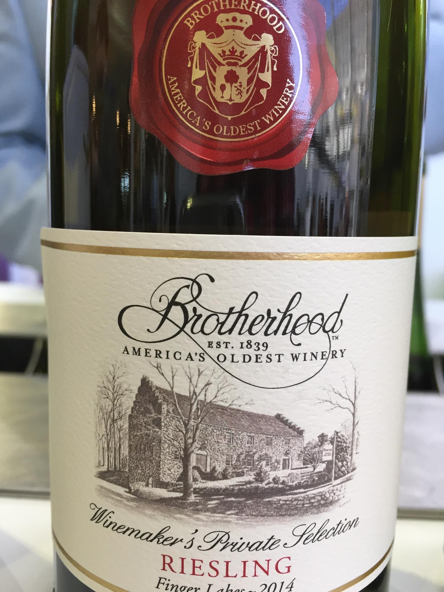 Brotherhood – Riesling 2014 – Winemaker's Private Selection – Finger Lakes