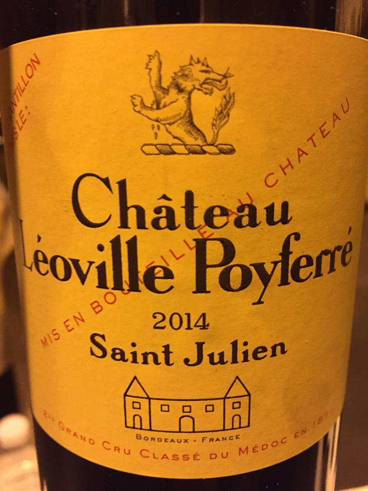 Château Léoville Poyferré 2014 – Saint-Julien, 2ème Cru Classé
