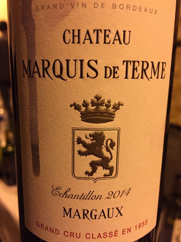 Château Marquis de Terme 2014 – Margaux, 4ème Cru Classé