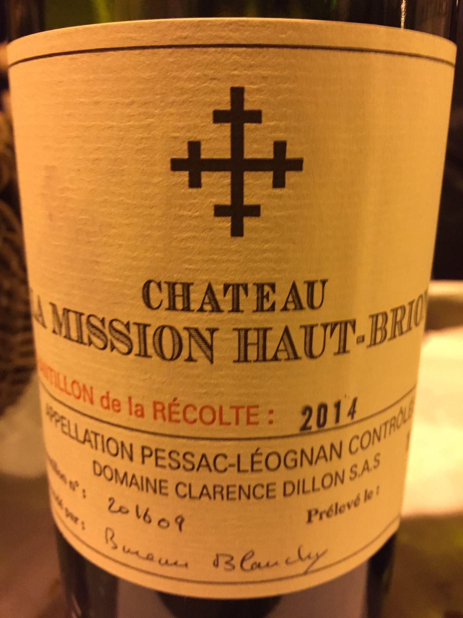 Château La Mission Haut-Brion 2014 – Pessac-Léognan, Grand Cru Classé de Graves