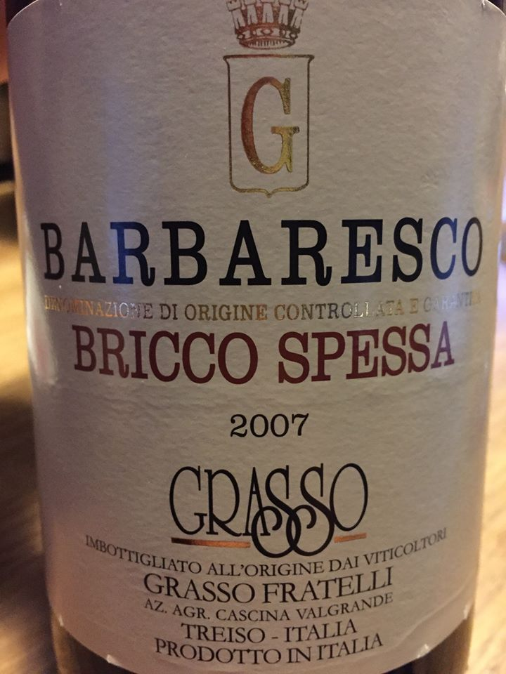 Grasso Fratelli – Bricco Spessa 2007 – Barbaresco DOCG