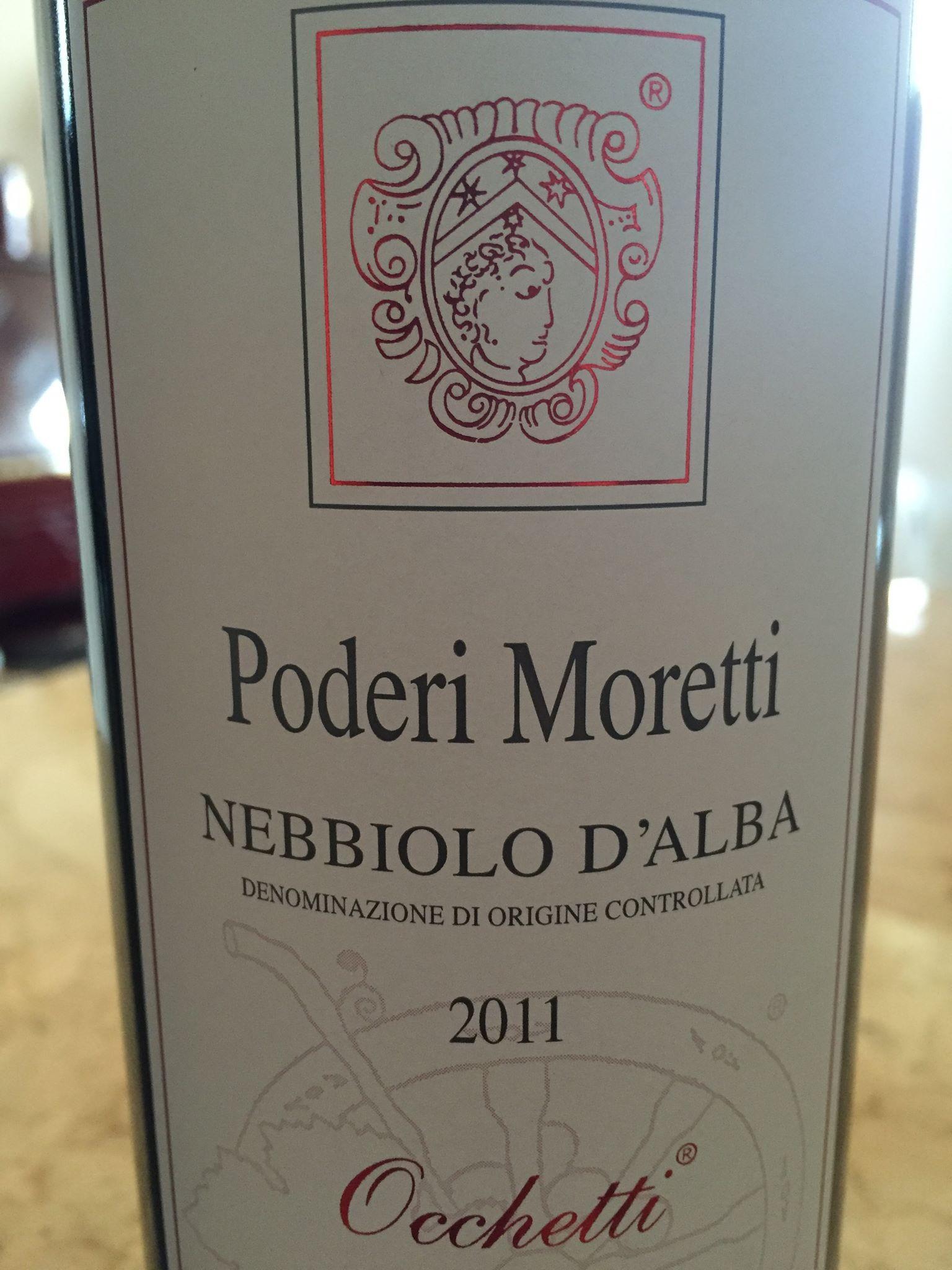 Poderi Moretti – Occhetti 2011 – Nebbiolo d'Alba
