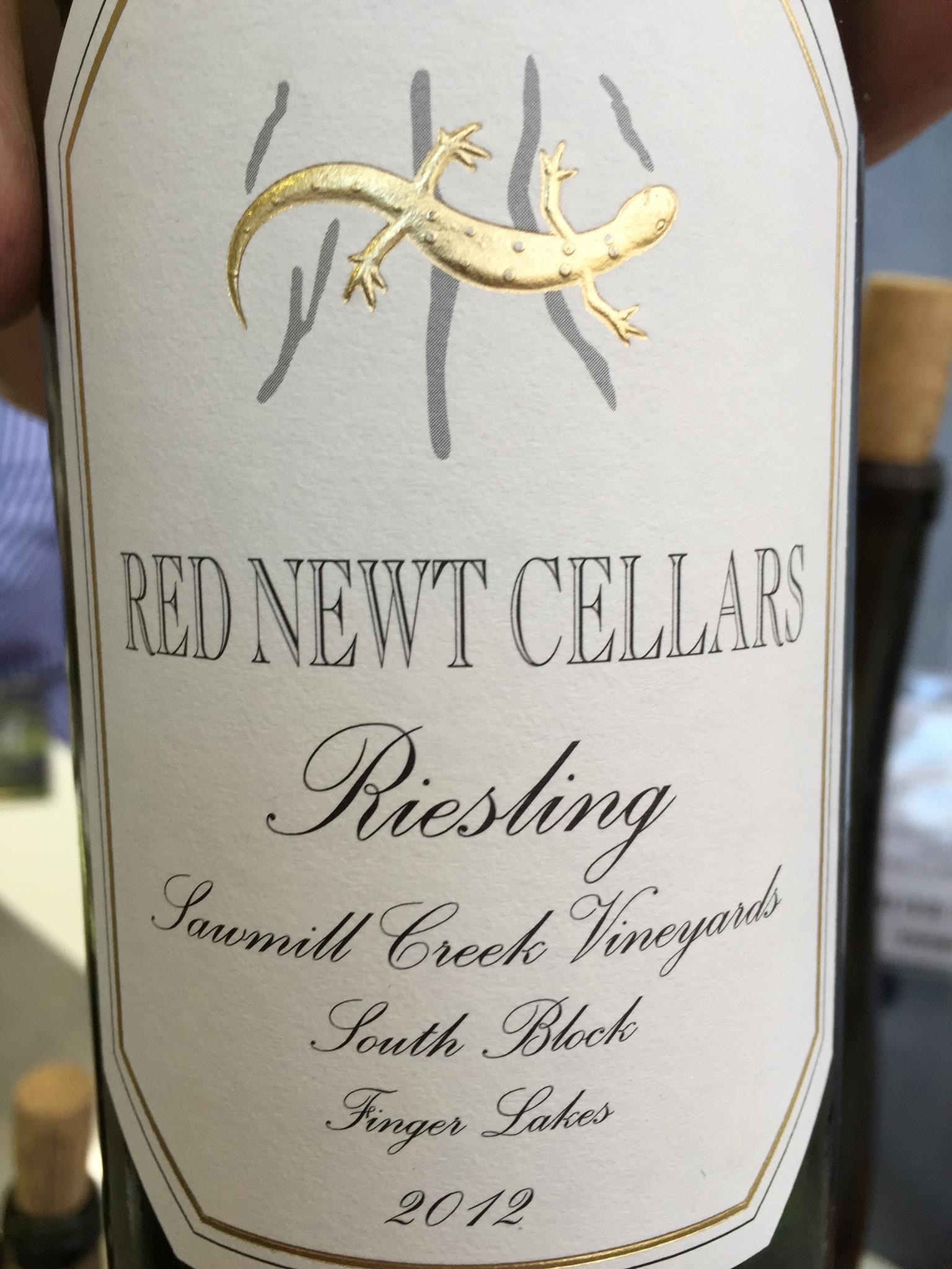 Red Newt Cellars – Riesling 2012 – Sawmill Creek Vineyards – South Block – Finger Lakes