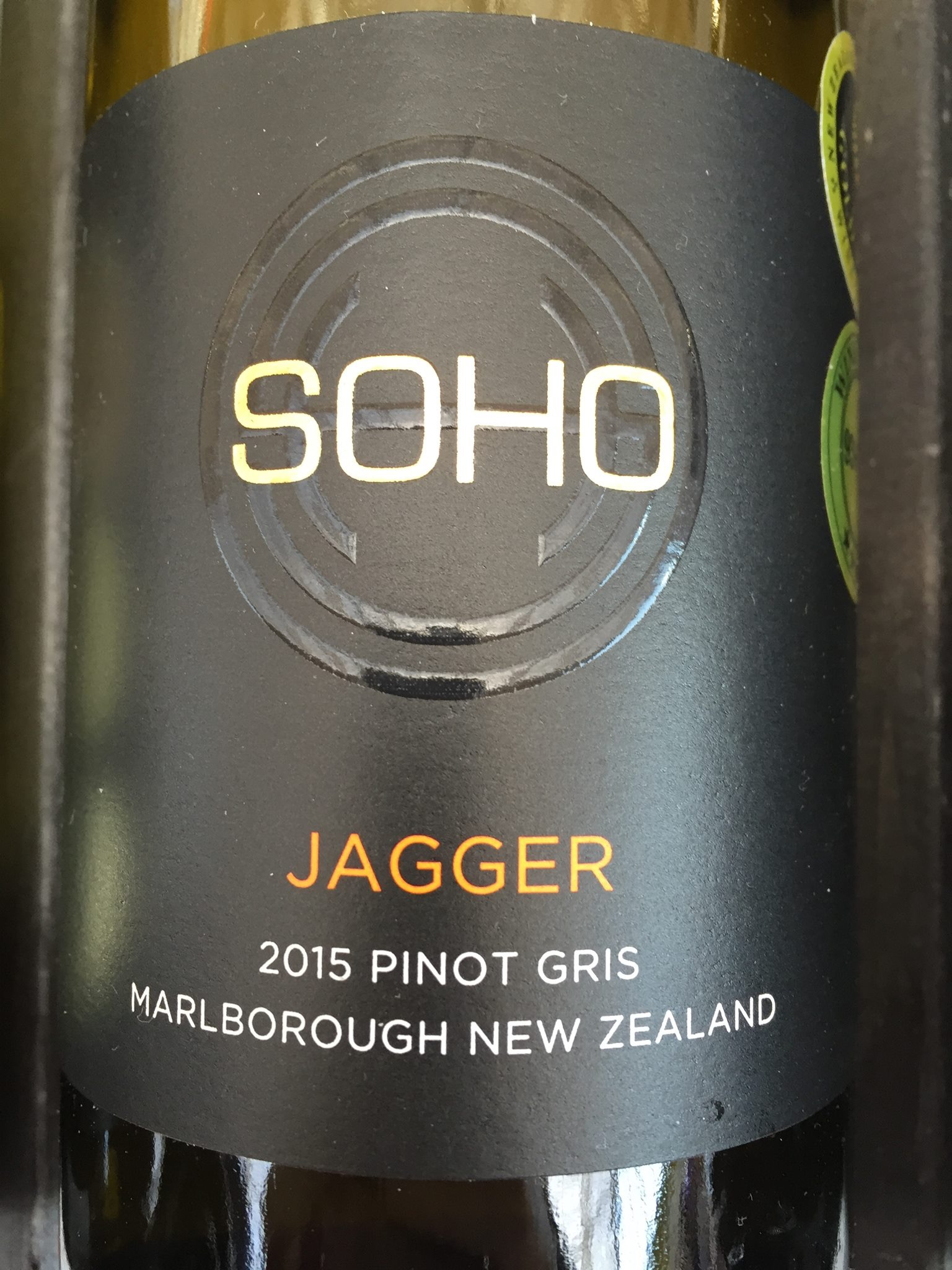 Soho – Jagger – Pinot Gris 2015 – Marlborough