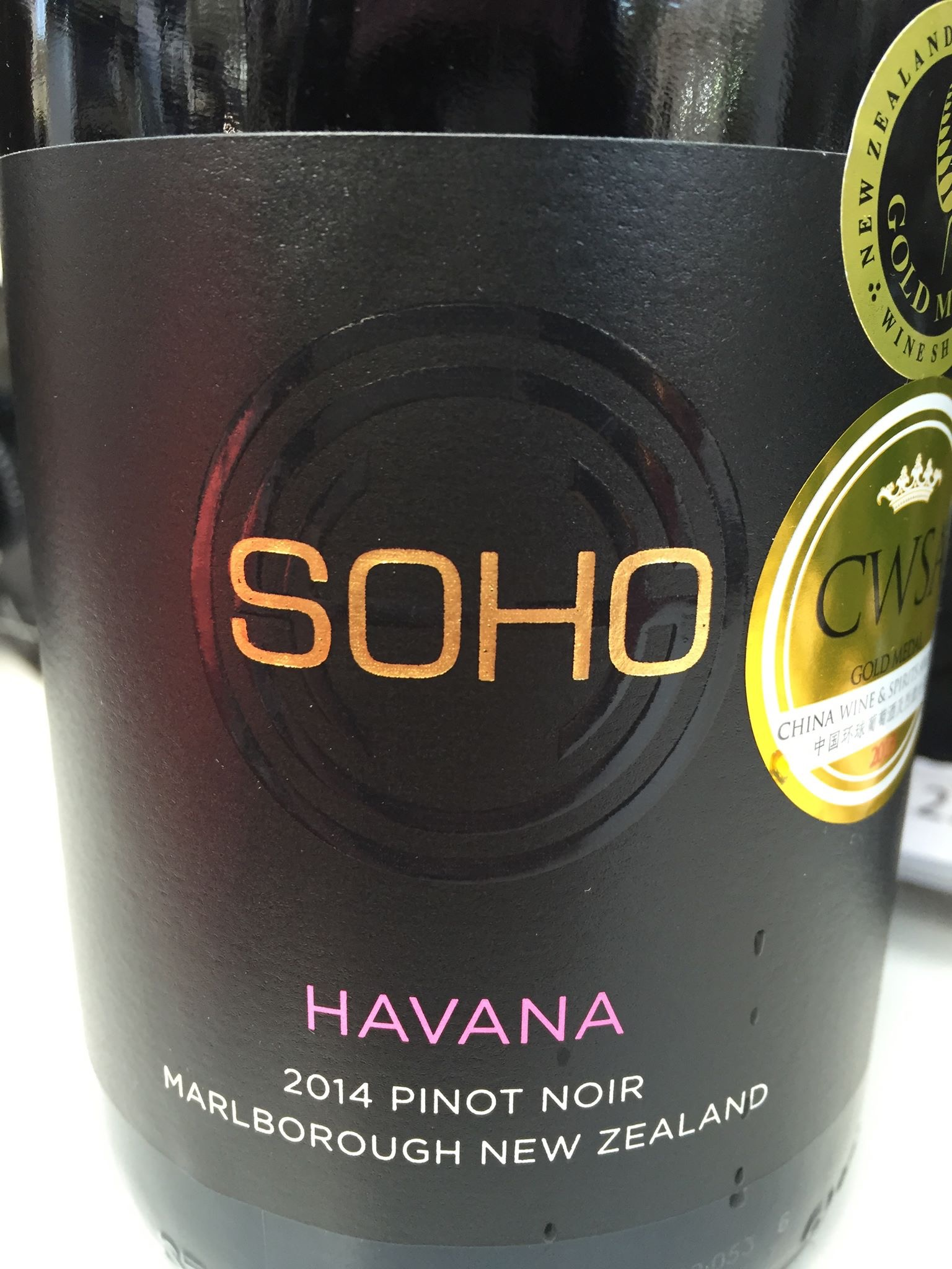 Soho – Havana – Pinot Noir 2014 – Marlborough