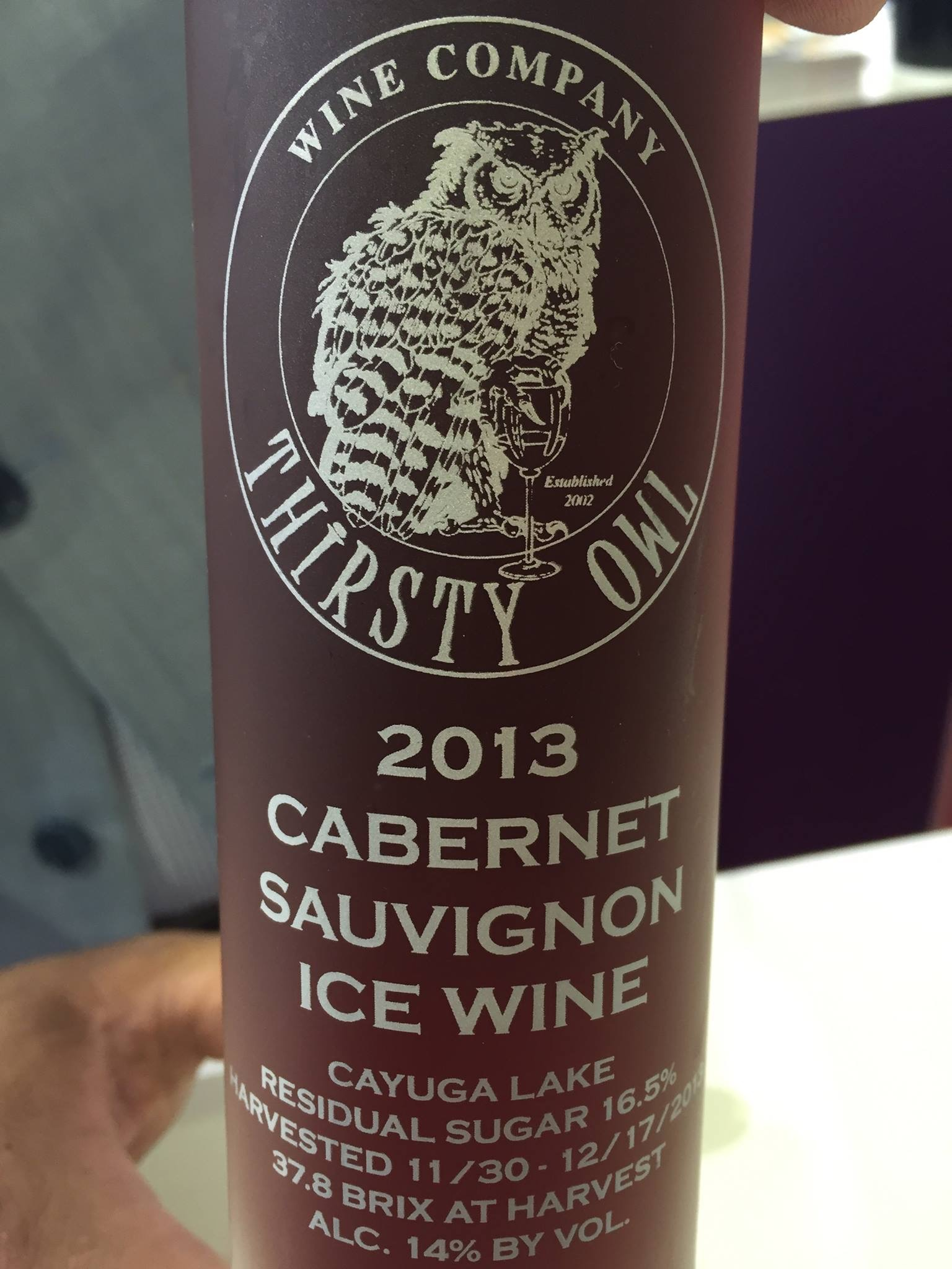 Thirsty Owl – Cabernet Sauvignon Ice Wine 2013 – Cayuga Lake