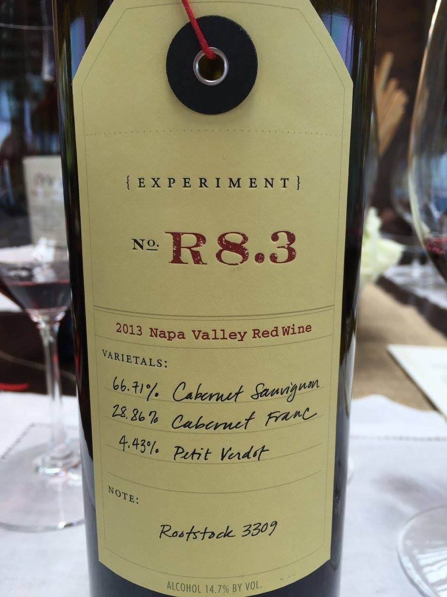 OVID – Experiment N° R8.3 – 2013 – Napa Valley