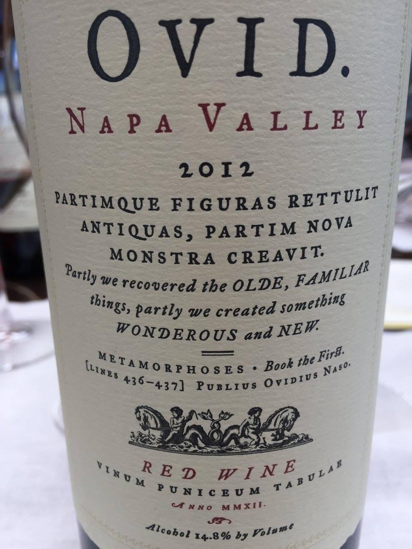 OVID 2012 – Napa Valley
