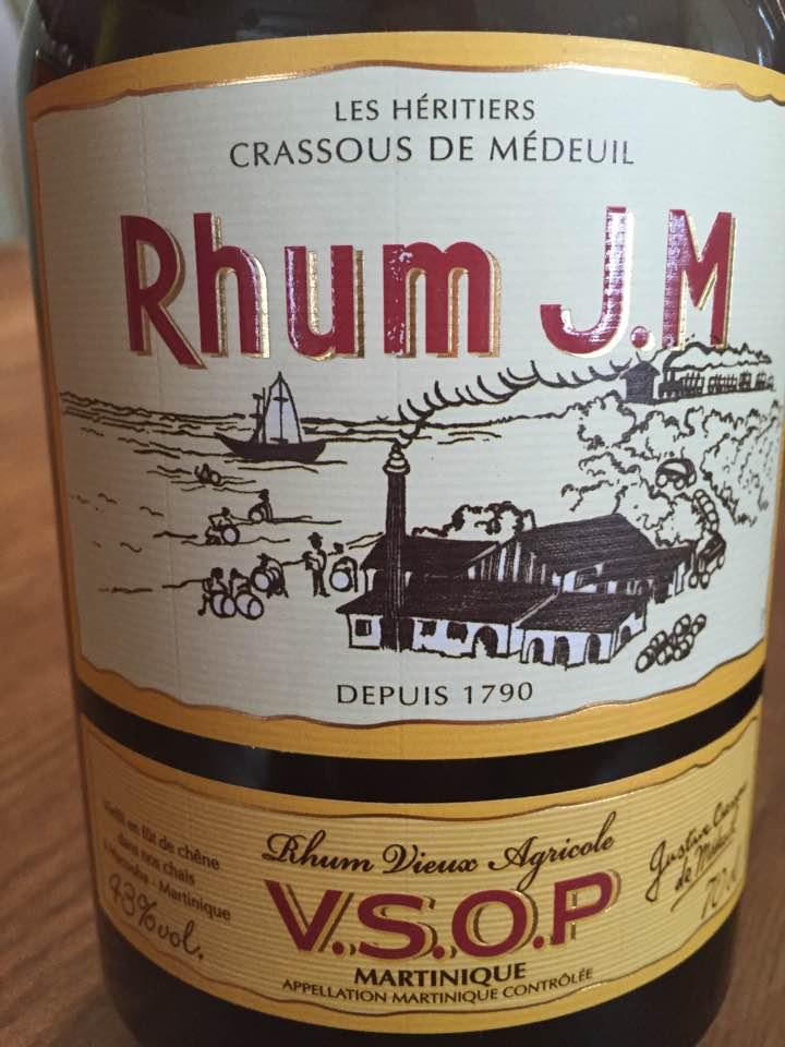 Rhum J. M – Rhum Vieux Agricole VSOP – Martinique