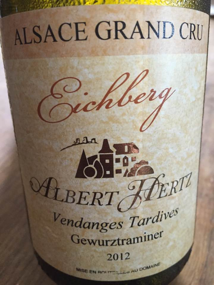 Albert Hertz – Gewurztraminer 2012 – Eichberg – Vendanges Tardives – Alsace Grand Cru