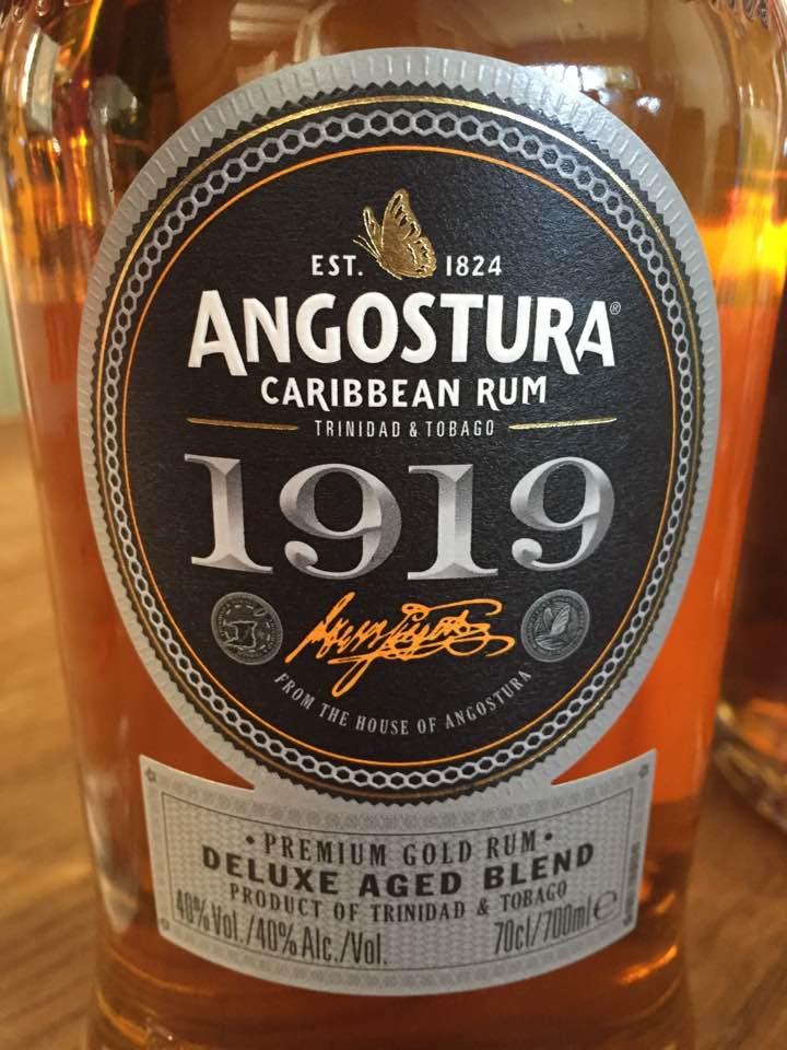 Angostura 1919 – Premium Gold Rum – Deluxe Aged Blend – Trinidad & Tobago