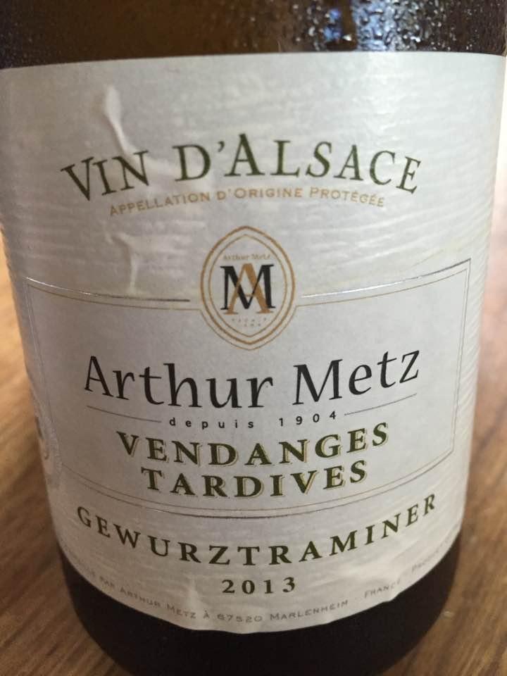Arthur Metz – Gewurztraminer 2013 – Vendanges Tardives – Alsace