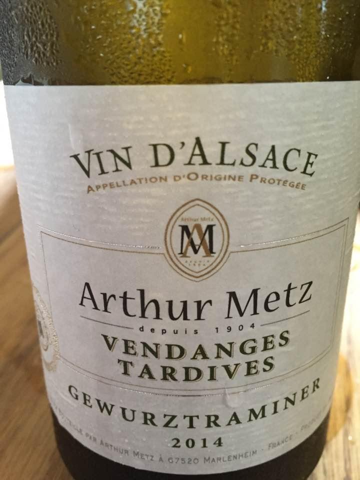 Arthur Metz – Gewurztraminer 2014 – Vendanges Tardives – Alsace