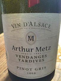 Arthur Metz – Pinot Gris 2008 – Vendanges Tardives – Alsace