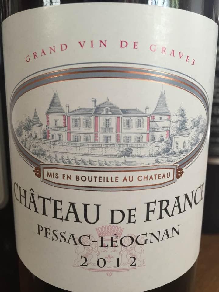 Château De France 2012 – Pessac-Léognan