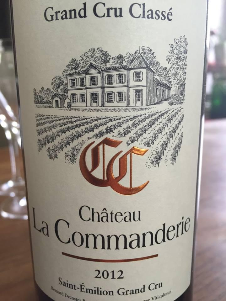 Château La Commanderie 2012 – Saint-Emilion Grand Cru Classé
