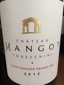 Château Mangot – Cuvée Todeschini 2012 – Saint-Emilion Grand Cru
