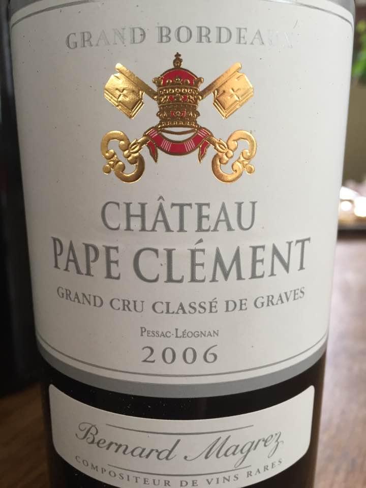 Château Pape Clément 2006 – Pessac Léognan – Grand Cru Classé de Graves