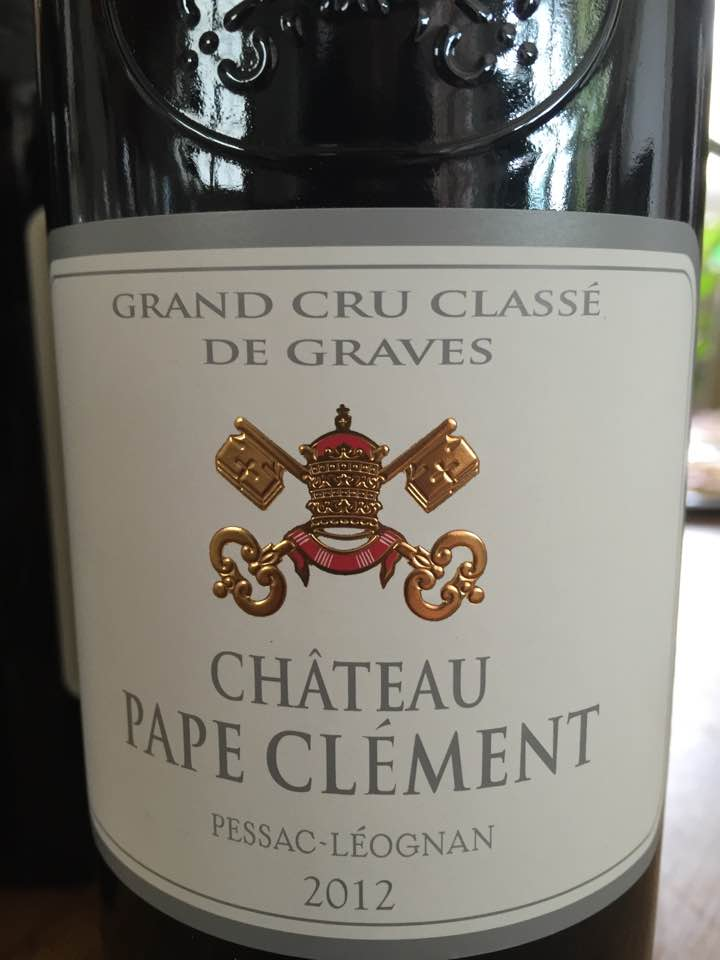 Château Pape Clément 2012 – Pessac Léognan – Grand Cru Classé de Graves