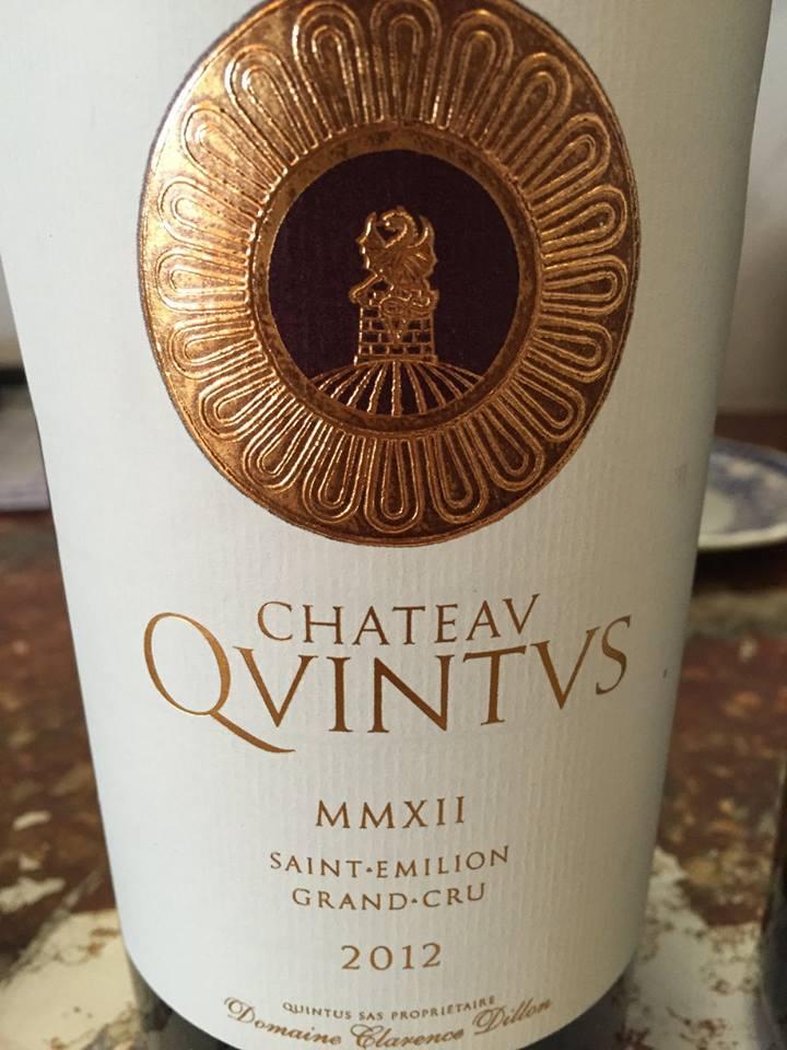 Château Quintus 2012 – Saint-Emilion Grand Cru